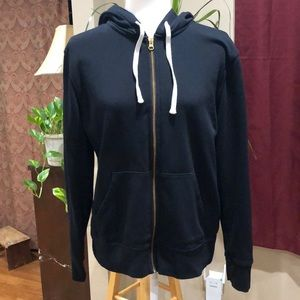 Old Navy black full zip hoodie size L